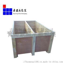 青岛木箱厂家供应商 订做尺寸一次性出口免熏蒸低价