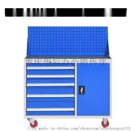 重型安全工具柜 车间抽屉式多功能双开门储物柜零件柜
