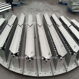 萃取塔溢流型金属槽盘气液分布器也叫盘式分布器