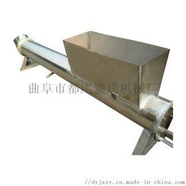 物料提升机 倾斜单管螺旋输送机 都用机械谷子螺旋提