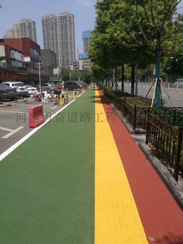 對比路基顏色可直接攤鋪的多彩現澆盲道
