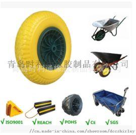 16寸PU发泡轮手推车轮子工具车轮