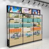 广州化妆品展示柜厂家铁木结合化妆品展柜定做