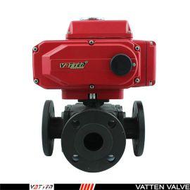 德国VATTEND671X-10\16上海生产厂家中德合资 电动法兰球阀 德国vatten品牌、 电动三通碳钢球阀