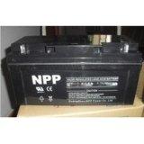 NPP耐普NP65-12 12V65AH 太阳能直流屏UPS/EPS电源 铅酸蓄电池
