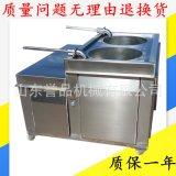 中式香肠灌肠机大型 腊肠灌肠烟熏成套加工流水线 自动上料灌肠机