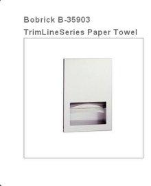 Bobrick保必丽 B-35903 嵌入式纸巾架