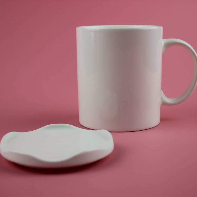 厂家供应陶瓷杯,白瓷杯,白瓷,可定制logo,白色杯子 陶瓷杯 带盖