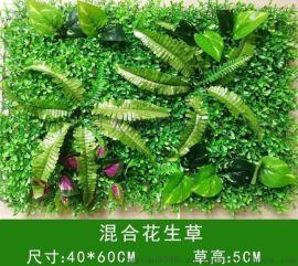 广州塑料混合草特密仿真植物酒店酒吧婚礼绿化背景墙装饰耐用