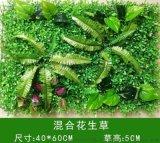 廣州塑料混合草特密模擬植物酒店酒吧婚禮綠化背景牆裝飾耐用