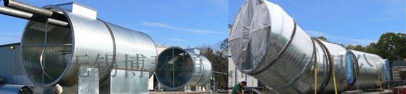 螺旋風管加工製作安裝-不鏽鋼風管-無錫博環通風管道
