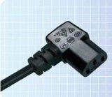 YS-22A 德国&欧洲多国认证插头线 电源线   - 两极带接地直角形连接器