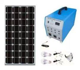 100W家用太阳能发电系统/100W家用太阳能发电照明系统
