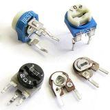 供应插件可调电阻/碳膜可调电阻/可调电阻102/蓝白立式103