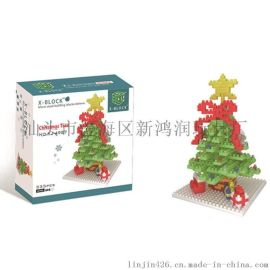 圣诞系列 星星圣诞树 圣诞节积木玩具