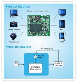 8188etv WIFI模块OTT盒子专用贴片模组