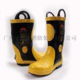 02款消防員  滅火防護靴 阻燃消防膠靴 消防火災搶險救援戰鬥靴