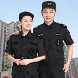 厂家供应保安服夏装短袖套装作训服半袖黑色酒店物业安保工服