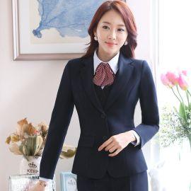 新款春装韩国修身商务套装酒店领班工作服长袖ol职业装西装套裙