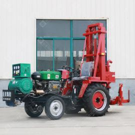 巨匠新型拖拉机小型液压打井机 大功率民用家用电动折叠式钻井机