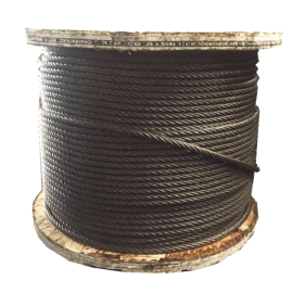 光面涂油钢丝绳6*37+FC麻芯 可按需定制