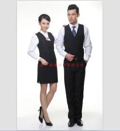 ktv酒吧夜总会服务员工作马甲 西餐厅服务员男女工作马甲定做厂