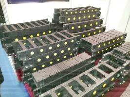 山东庆云奥兰机床附件制造有限公司生产65型穿线缆工程塑料拖链