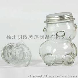 玻璃熊猫瓶 熊猫玻璃工艺品 玻璃熊猫工艺品