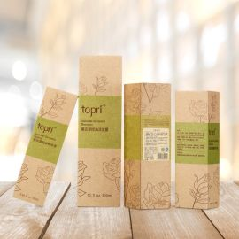 广州工厂专业定做化妆品包装盒 **水乳液牛皮纸彩盒折盒