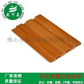 厂家直销生态木墙板防水阻燃零甲醛WPC电视背景墙