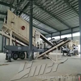 建筑垃圾移动破碎站 山东破碎机厂家 移动碎石机