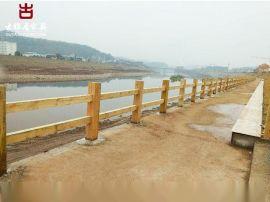 铜仁实木栏杆厂家,厂家定制防腐木河道护栏