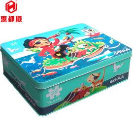 马口铁长方形卡片套装三片罐 儿童玩具包装铁盒