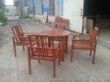 实木桌椅 户外木制桌椅广州傲源户外家具厂生产
