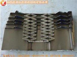 正定供应耐高温耐酸碱钢制伸缩式导轨防护罩/机床钢板护板