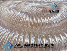 环保设备风机专用通风管PU钢丝吸尘软管20公分直径