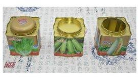 铁盒厂家订制 胡萝卜种子易拉罐 小白菜种子马口铁罐 密封圆形金属罐