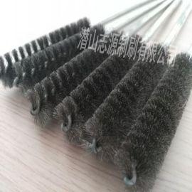 供应 管道刷 耐磨去锈试管钢丝刷 抛光清洗球头管道刷 凸轮轴去毛刺磨料丝