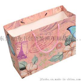 【厂家定制】250g白卡纸服装手提袋 购物包装袋 纸袋定做 **