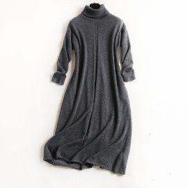 丽晴服饰新款**休闲100%纯羊绒连衣裙