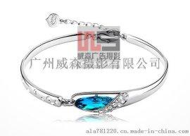 广州珠宝首饰饰品拍摄耳环戒指手镯吊坠手链项链水晶摄影