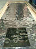 304不鏽鋼鏡面黑鈦衝壓大水波紋板,不鏽鋼吊頂裝飾,不鏽鋼衝壓花紋板