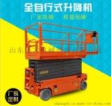 供应河南 自行走式升降机 电动液压升降平台12米