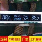 车载空调显示屏   黑底LCD液晶屏   VA 段码 厂家批量定制17121102