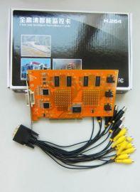 8路全兼容硬压缩超清视频采集卡(WD-8008)