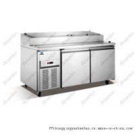 不锈钢两门比萨操作台、风冷保鲜冷柜、定制厂家批发