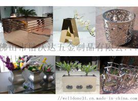 定制园艺金属花盆商场楼盘不锈钢大花盆