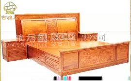 四川古典大床,雕花床,定制厂家