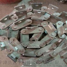 非标订做不锈钢链条    不锈钢挡板输送链条
