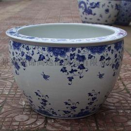 景德镇陶瓷大缸定制 家居陶瓷大缸工艺品摆件